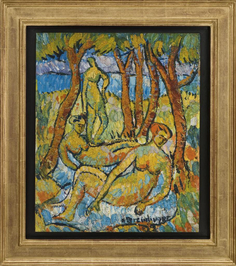 Badende unter Bäumen, 1922, 68 x 56 cm
