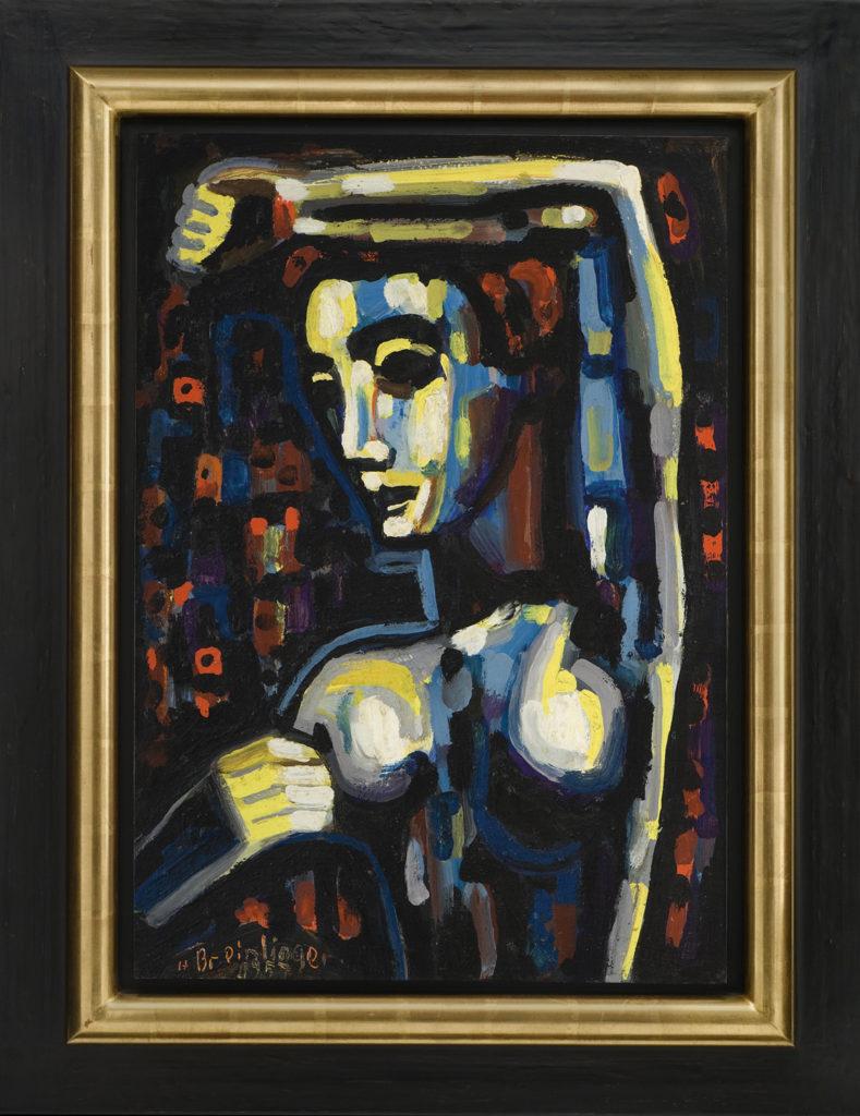 Halbakt mit erhobenem Arm, 1957, 69 x 48 cm
