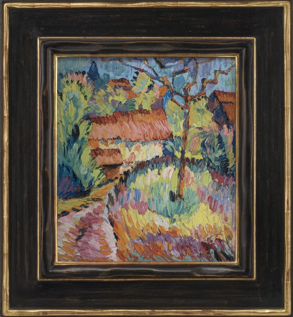 Häuser in der Landschaft, 1922, 42 x 38 cm