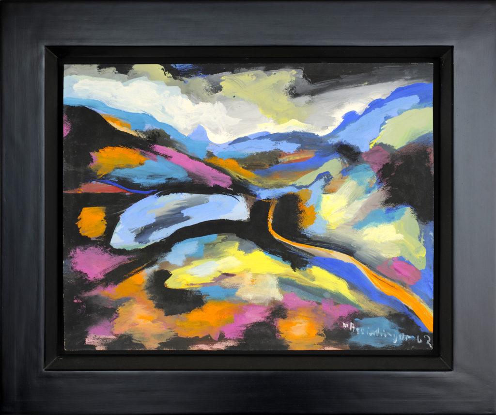 Landschaft, 1962, 40 x 56 cm
