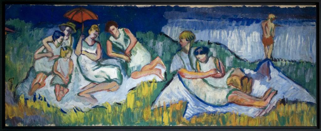 Strandleben 1920, 71 x 183 cm